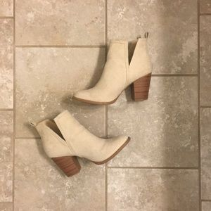 Creme color booties